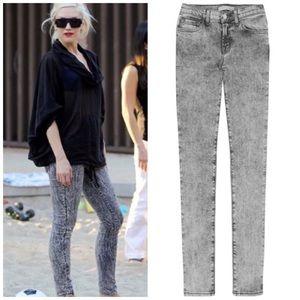 J Brand Acid Wash Low Rise Pencil Leg Skinny Jeans